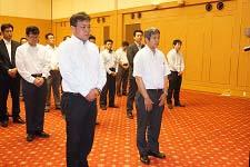 【事業計画表彰】代表 三部部長・阿部部長